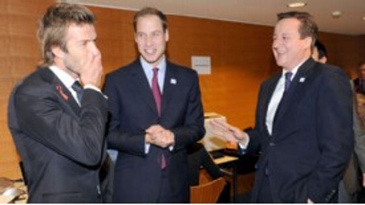 David Cameron (right) expressed his dismay at 'football governance'