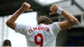 Johan Elmander may have forgotten how to celebrate after losing his scoring touch