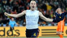 Andres Iniesta's gesture in scoring the winner in the World Cup final saw acclaim reserved for him at Espanyol
