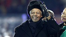 Nelson Mandela attended the 2010 World Cup final