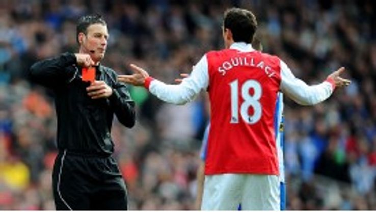 Sebastien Squillaci has slipped down the pecking order at Arsenal