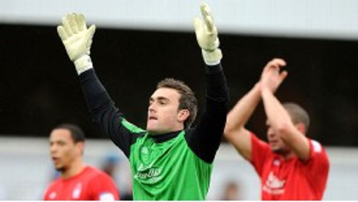 Forest goalkeeper Lee Camp has been an inspirational figure for his club