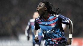 Lyon forward Bafetimbi Gomis