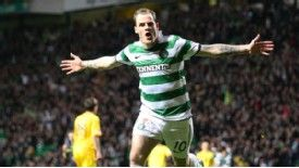 Anthony Stokes celebrates his goal