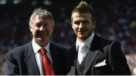 David Beckham said Sir Alex Ferguson was like a father figure to him.
