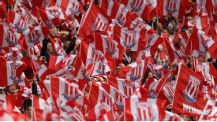 Stoke fans wave their flags ahead of the FA Cup final