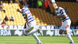 Alejandro Faurlin celebrates QPR's second