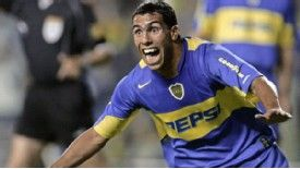Carlos Tevez began his career at Boca Juniors, playing for the club's first-team for three years