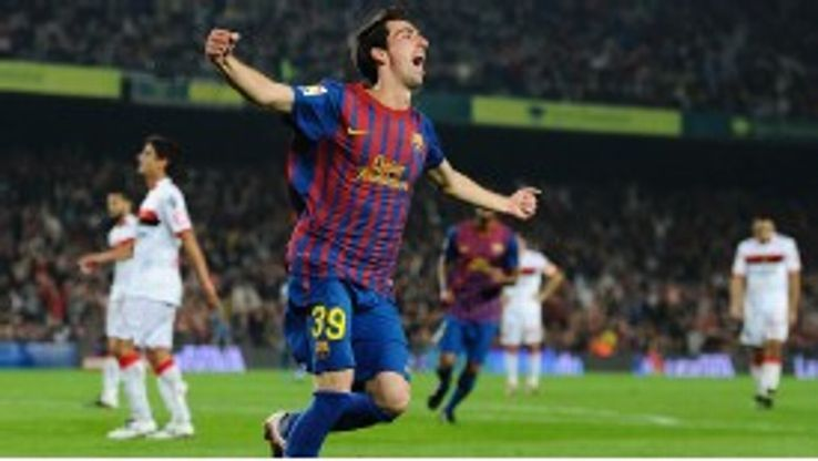 Isaac Cuenca celebrates his goal
