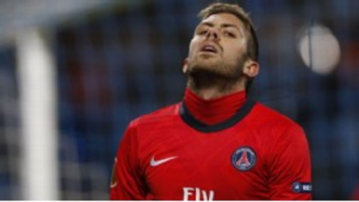 Jeremy Menez has become frustrated by a lack of playing time at PSG