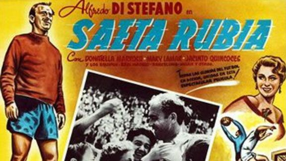 A poster advertising Di Stefano's appearance in the film