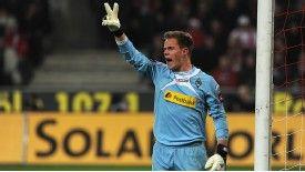 Moenchengladbach's goalkeeper Marc-Andre ter Stegen