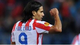 Falcao netted a hat-trick for Atletico