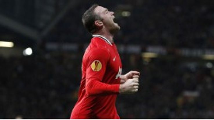 Wayne Rooney pounced on a loose ball to break the deadlock at Old Trafford
