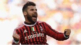 Antonio Nocerino fired AC Milan in front versus Lecce on seven minutes