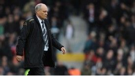 Fulham manager Martin Jol endured a miserable day against Swansea