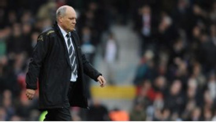 Fulham manager Martin Jol endured a miserable day against Swansea