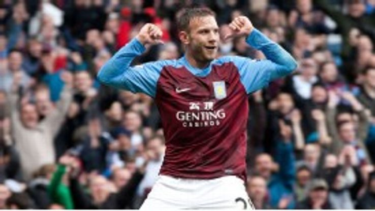 Andreas Weimann broke the deadlock in Villa's meeting with Stoke