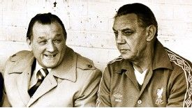 Bob Paisley pictured with assistant Joe Fagan in 1979