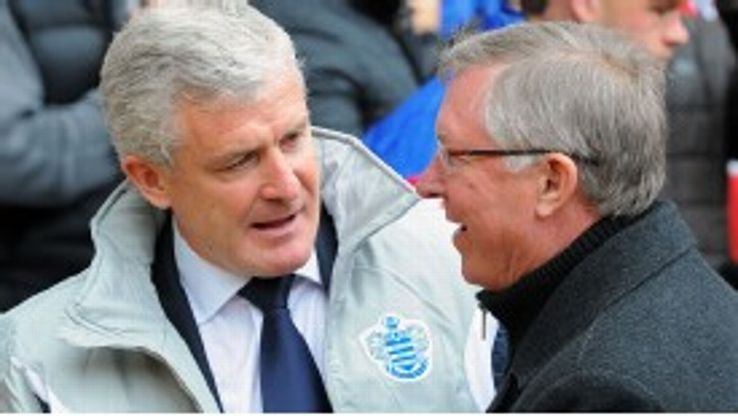 Mark Hughes's QPR travel to Manchester City on the final day of the season