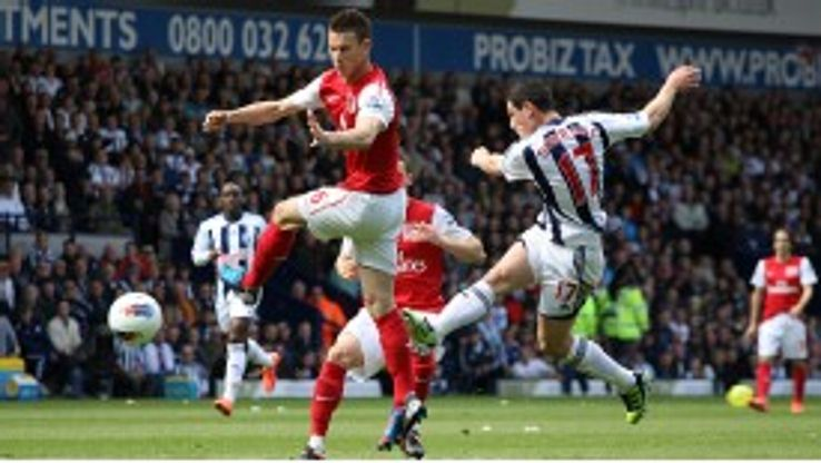 Graham Dorrans fires West Bromwich Albion into the lead