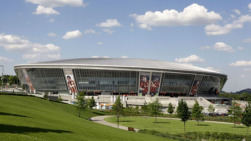 The Donbass Arena in Donetsk will host the game