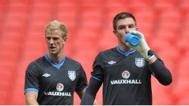 Jack Butland was understudy to Joe Hart and Rob Green at Euro 2012