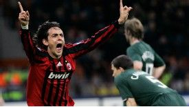 Filippo Inzaghi scored twice against Liverpool in 2007 Champions League final