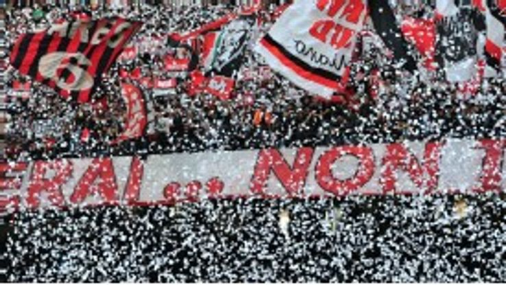 Milan fans were not happy after selling the family jewels to PSG