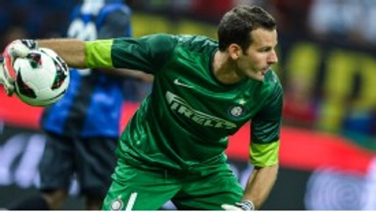 Samir Handanovic has replaced Julio Cesar as Inter Milan's No. 1