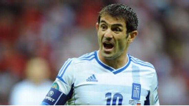 Giorgos Karagounis has 120 caps for Greece