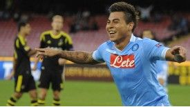 Eduardo Vargas had a frustrating time at Napoli