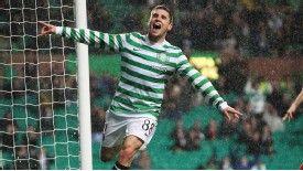 Gary Hooper celebrates his goal