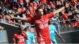 Anthony Le Tallec celebrates scoring against Marseille
