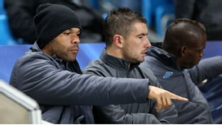 Joleon Lescott has found himself benched at City this season