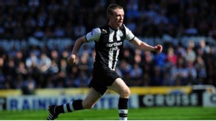 Shane Ferguson in action for Newcastle