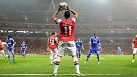 Andre Santos was culpable for both of Schalke's goals at the Emirates