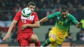 Pawel Wszolek made his first senior international appearance during the recent friendly victory over South Africa