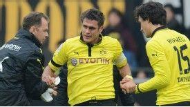 Borussia Dortmund's Sebastian Kehl was injured during the goalless draw with Stuttgart
