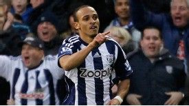 Peter Odemwingie hasn't made a start since West Brom's 2-0 loss to Manchester United in December