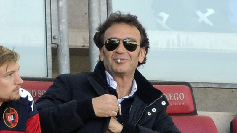 Cagliari president Massimo Cellino courted controversy by encouraging fans to attend a behind closed doors game