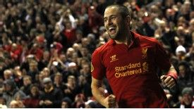 Joe Cole scored his first Liverpool goal in 19 months