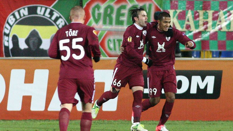 Rubin Kazan celebrates Rondon's late double
