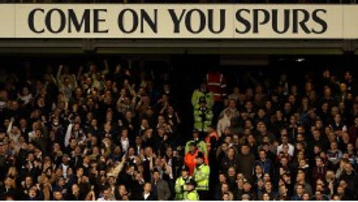 Part of the West Ham section of the crowd at White Hart Lane
