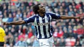 Romelu Lukaku celebrates his goal against Sunderland