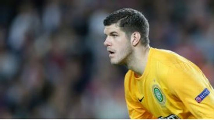 Fraser Forster's performances for Celtic in the Champions League earned a place in the England squad.