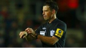 Mark Clattenburg made his return in the match between Southampton and Norwich