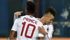 Goalscorers Kevin Prince Boateng and Stephan El Sharaawy celebrate
