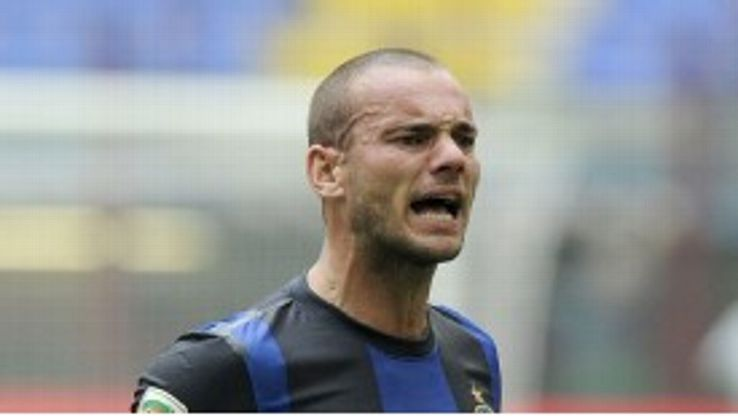 Wesley Sneijder's time at Inter Milan appears close to an end