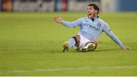 Carlos Tevez endured a frustrating night as Manchester City's European campaign came to an end